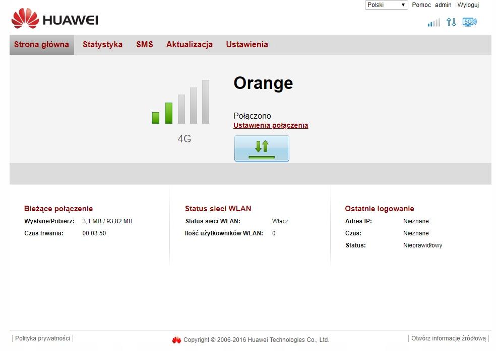 Huawei B525 Domowy Router 4G LTE Ultra WiFi AC1300