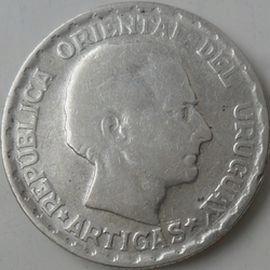 50 centimos Urugwaj - Srebro