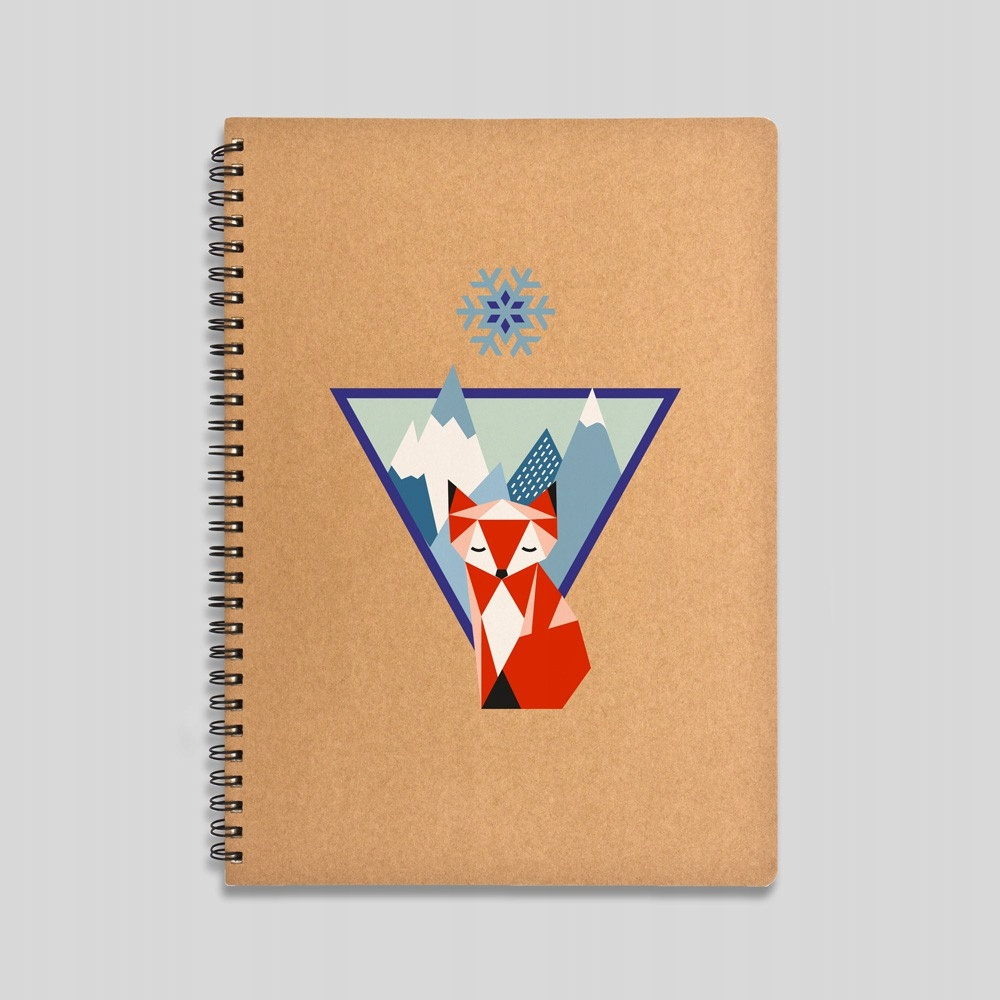 Mountain fox notebook Ruled