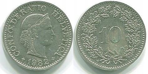 ===Moneta Szwajcaria, 10 rappen, R.1982