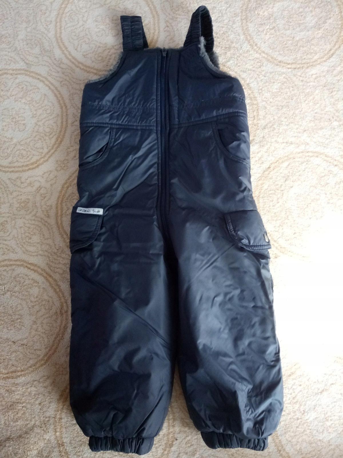 spodnie ocieplane, śniegowce, rozmiar 92cm