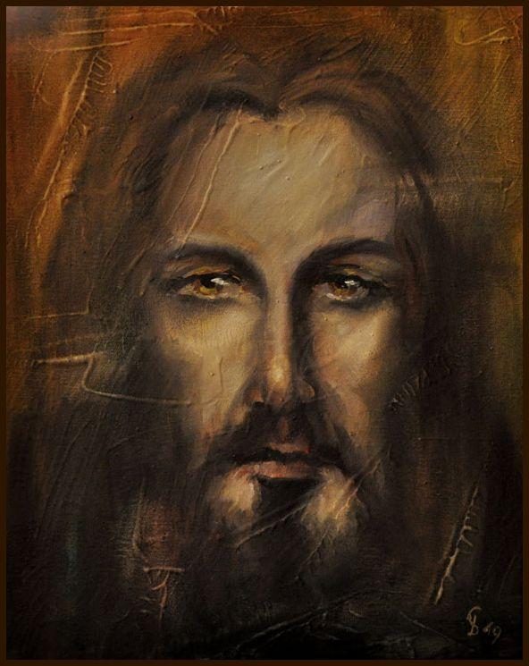 Obraz Jezus Chrystus Całun 24x30 Portret GIERLACH