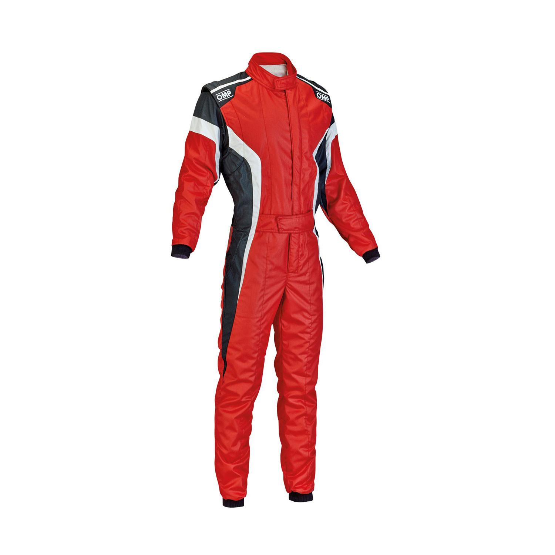 Kombinezon OMP TECNICA-S czerwony FIA 52