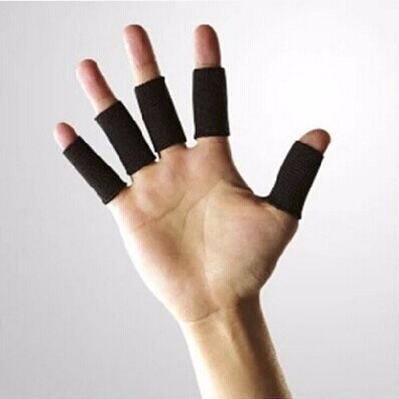 Ochraniacze na palce 10 szt, czarne od ręki!!!