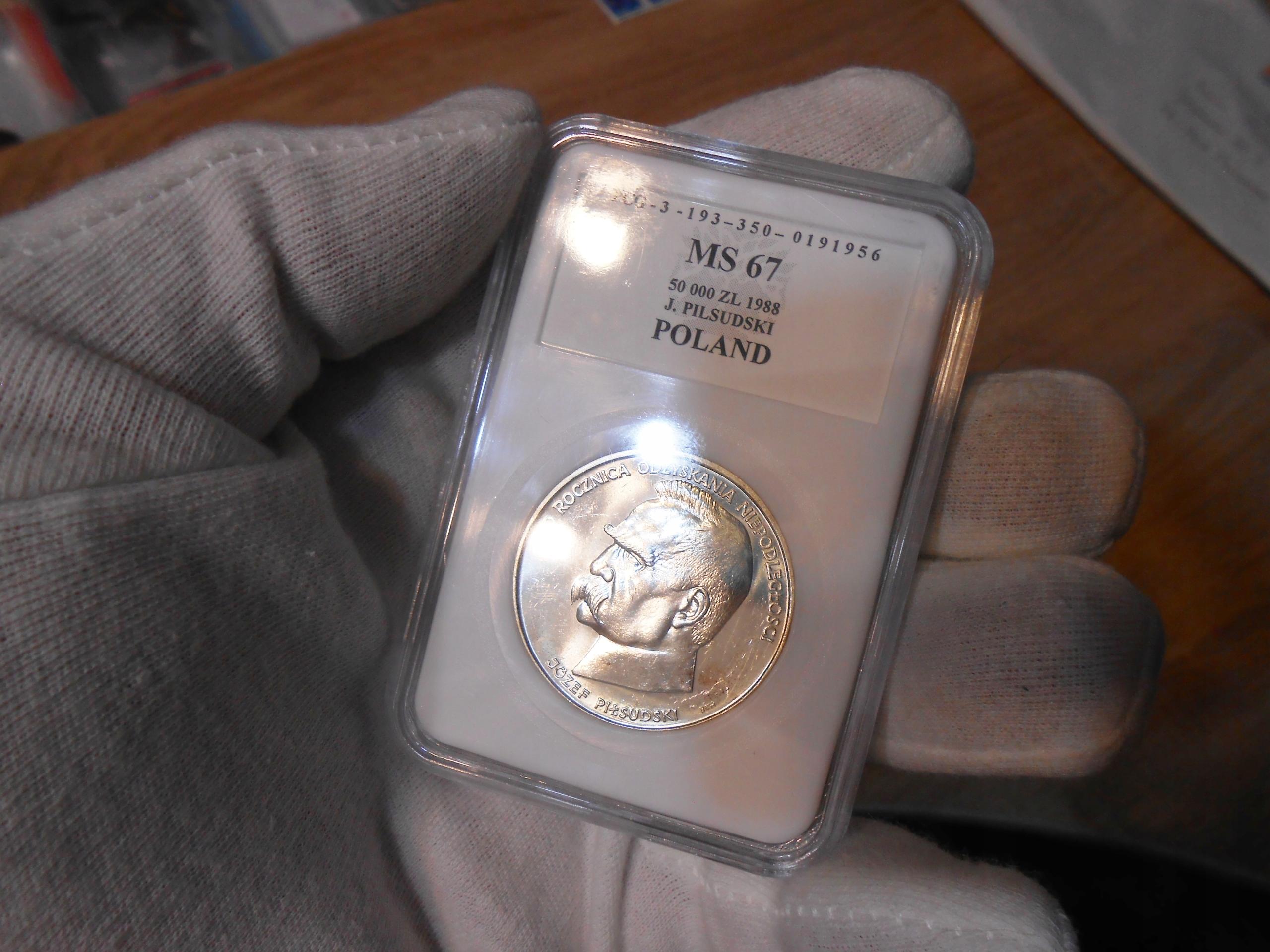 stara moneta ze srebra w opakowaniu bardzo Tanio