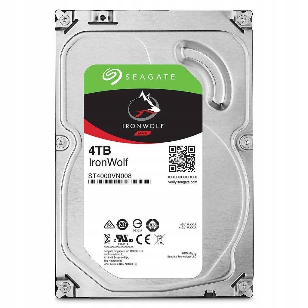 Dysk SEAGATE IronWolf 4TB ST4000VN008 5900 64MB