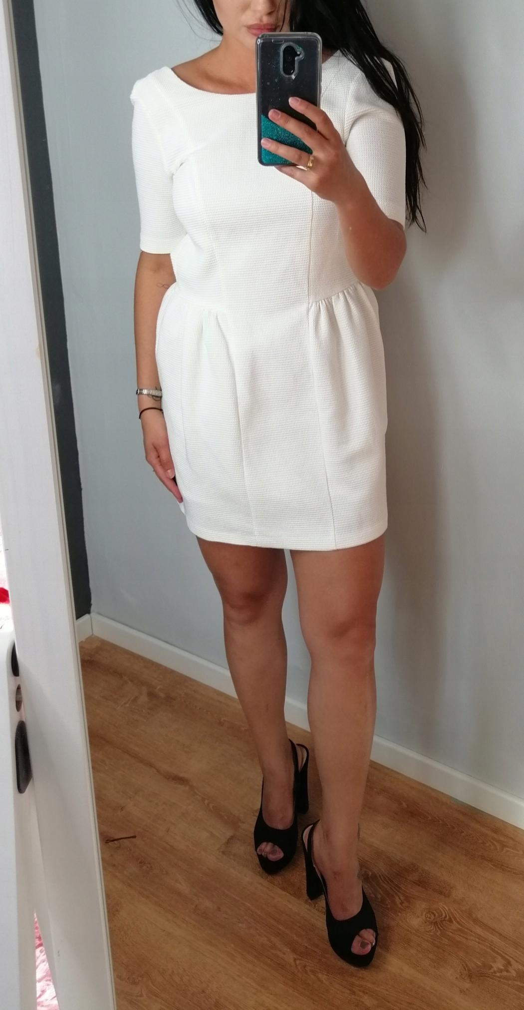 Sukienka Reserved biała Wizytowa 36 S