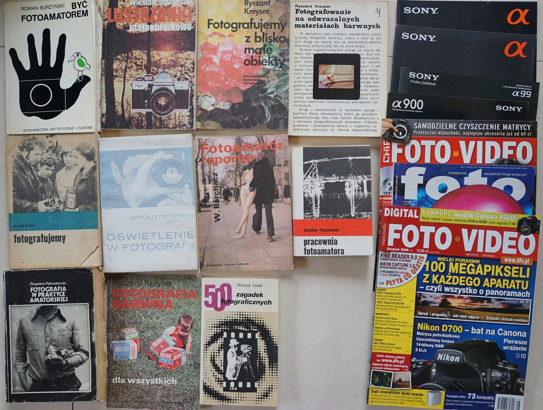 Zestaw książek o fotografii (foto, fotografia)