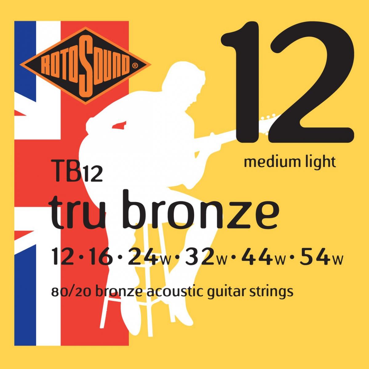 Rotosound TB12 Tru Bronze struny do akustyka 12-54