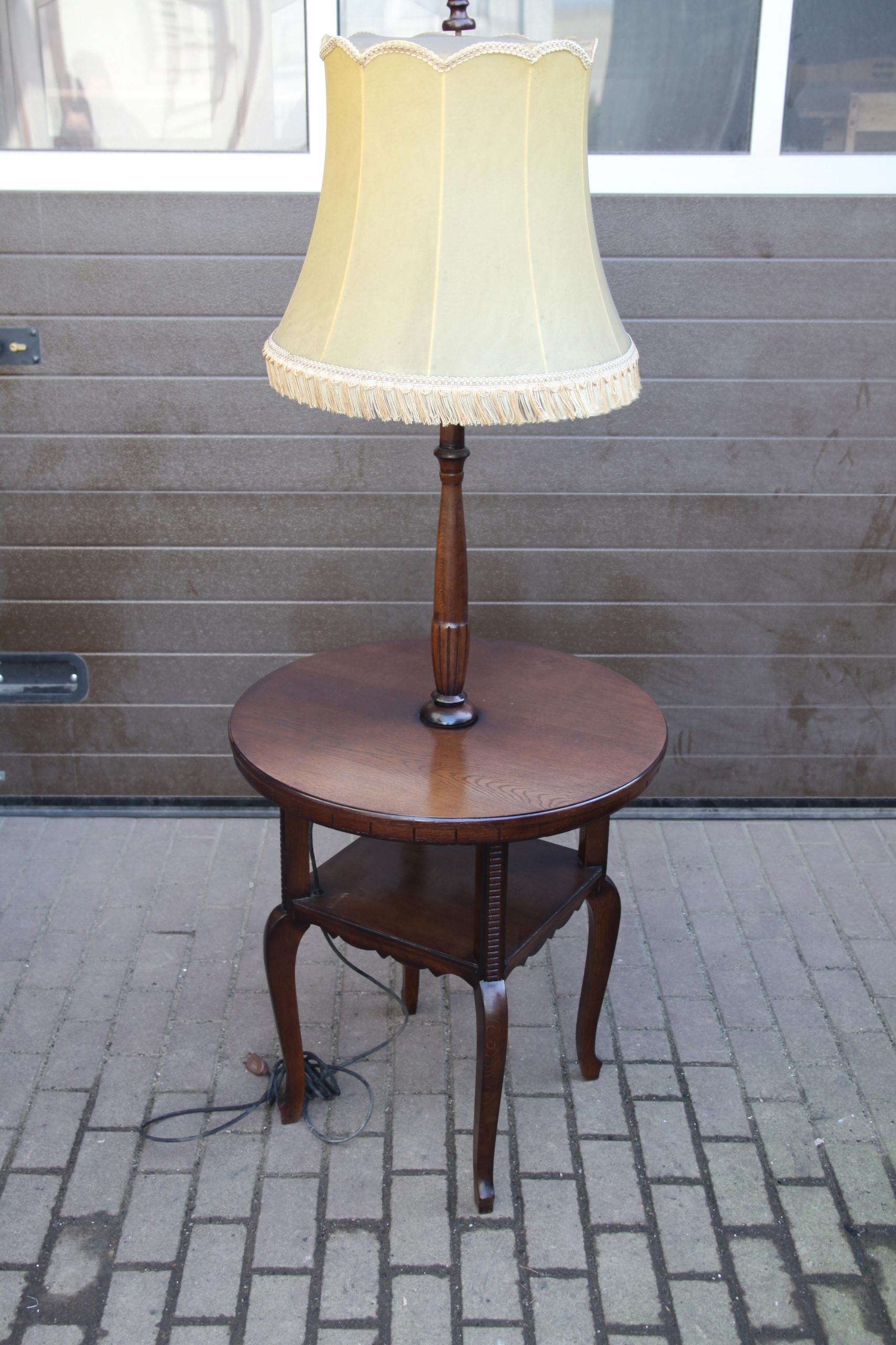 Lampa ,stolik ludwikowska stara po renowacji okaz