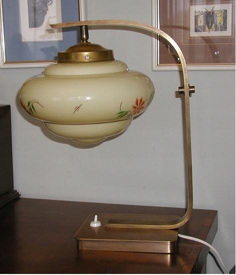 klasyka art deco lampa mosiężna