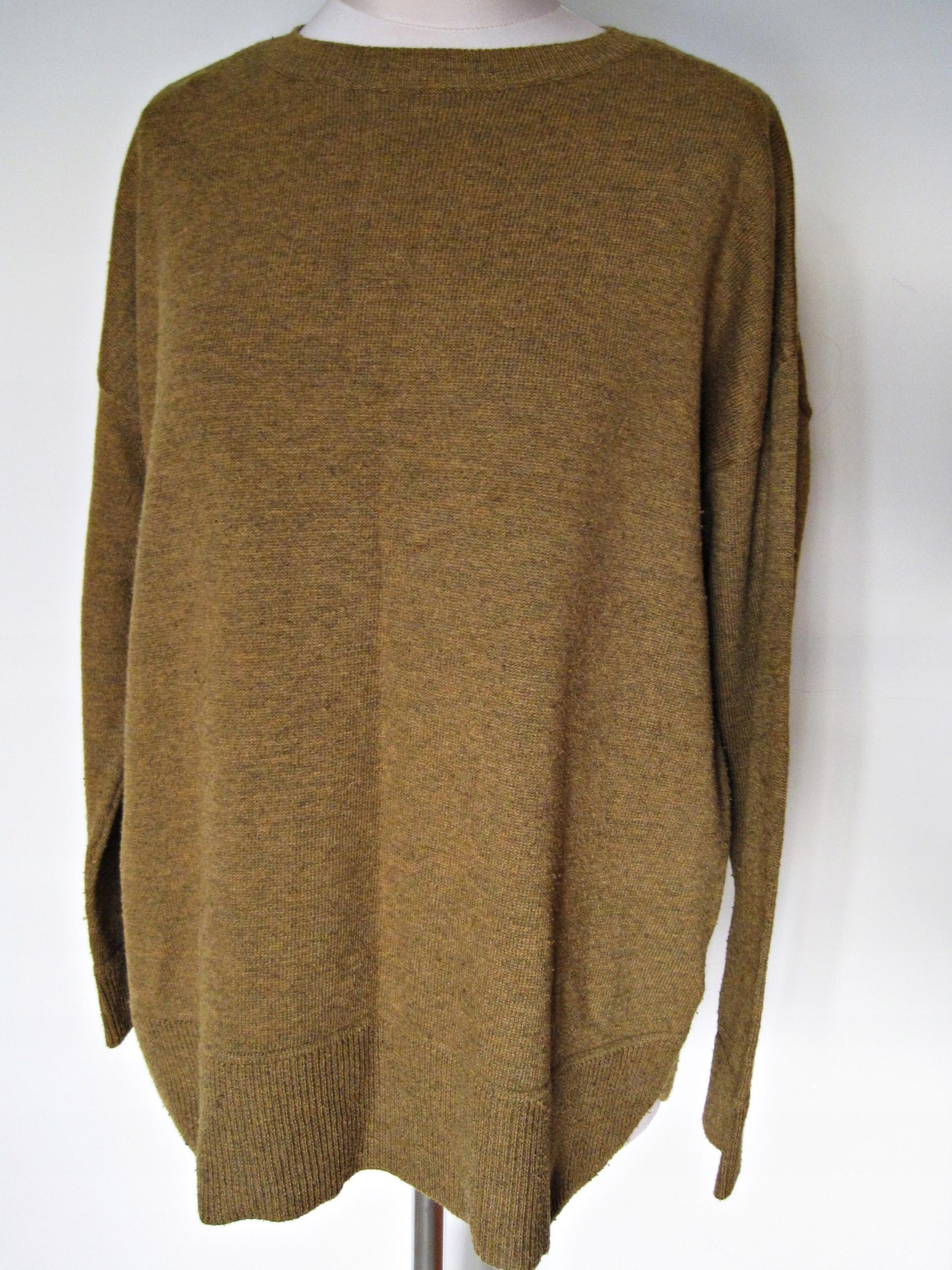 Sweter H&M miodowy/musztardowy oversize L