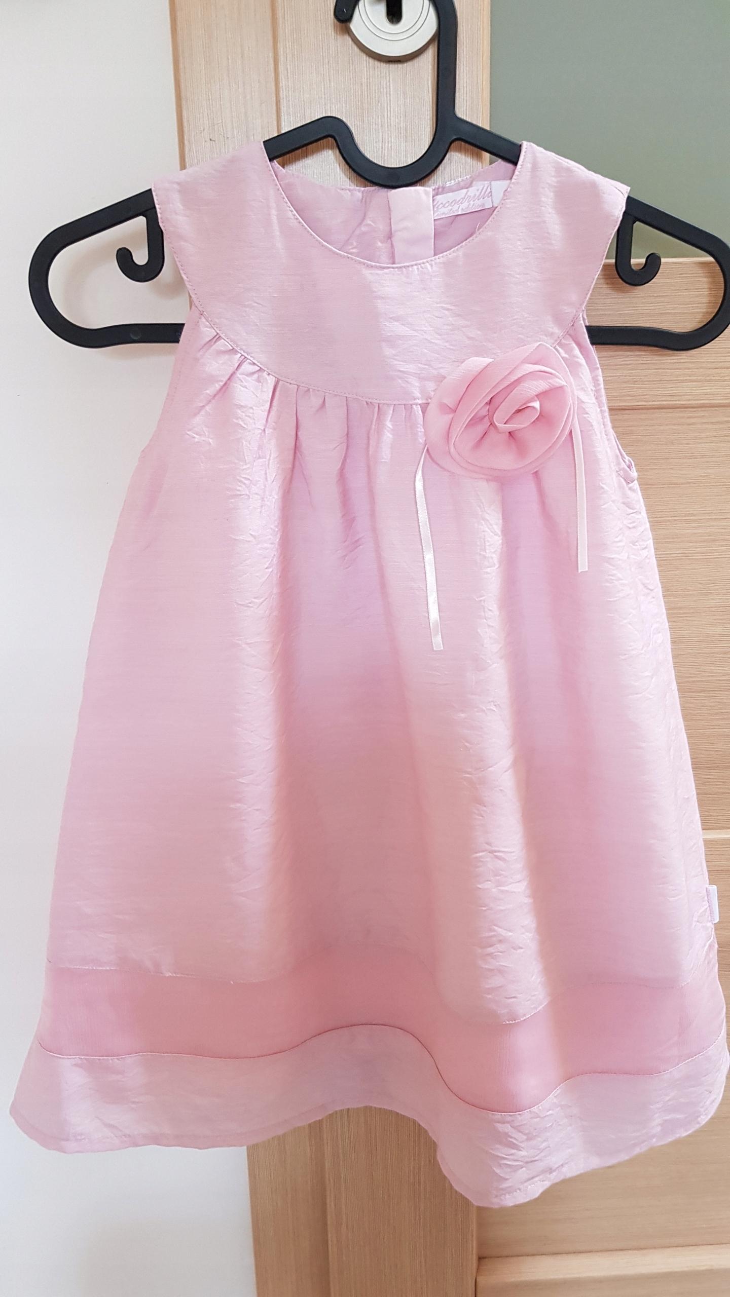 Sukienka Coccodrillo rozm. 128 różowa