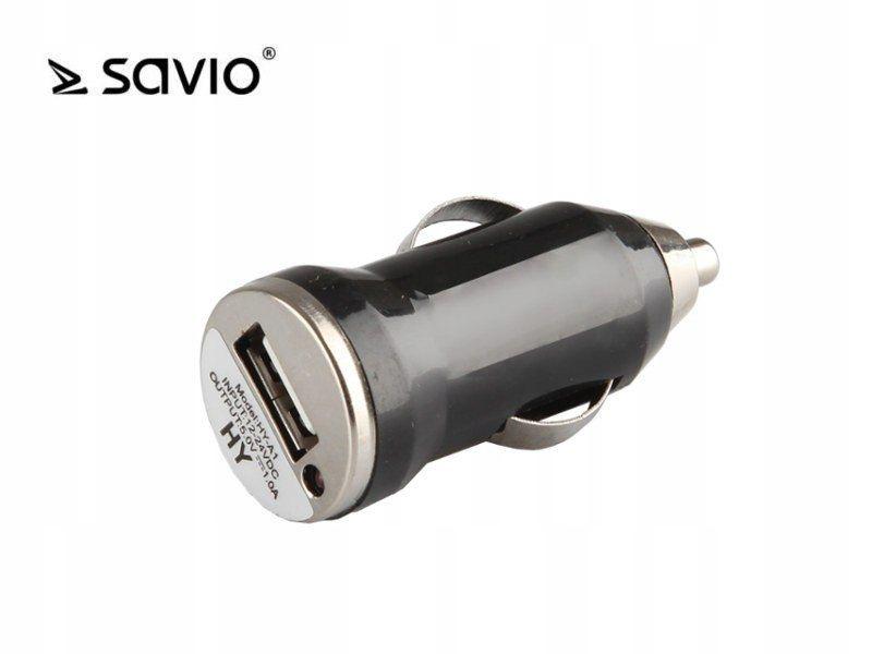 SAVIO SA-02 Ładowarka samochodowa USB, 5V/500 mA
