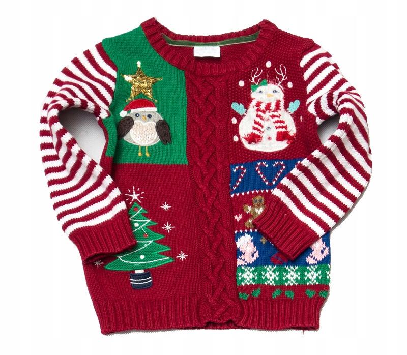 85c8c75c42c276 AZ224 Świąteczny ciepły sweterek F&F 92 - 7204459765 - oficjalne ...