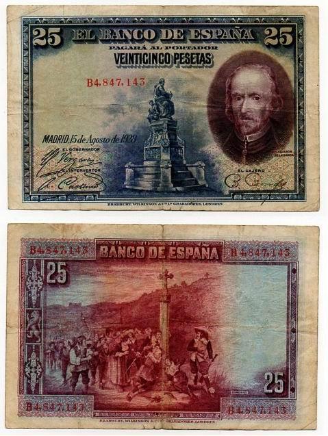 HISZPANIA 1928 25 PESETAS