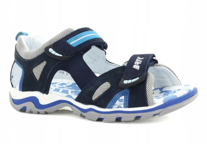 Sandały BARTEK dla chłopców niebiesko-szary 27