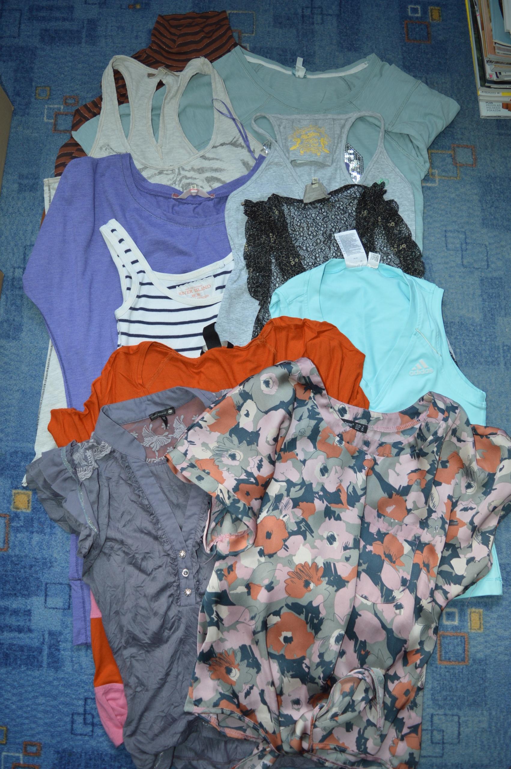 NR 8 bluzki H&M Bershka Troll Adidas 36