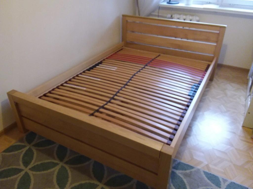 łóżko Drewniane Stelarz Buk Natura140200 Selene