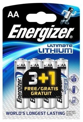 Bateria LITHIUM AA L91 3+1szt.