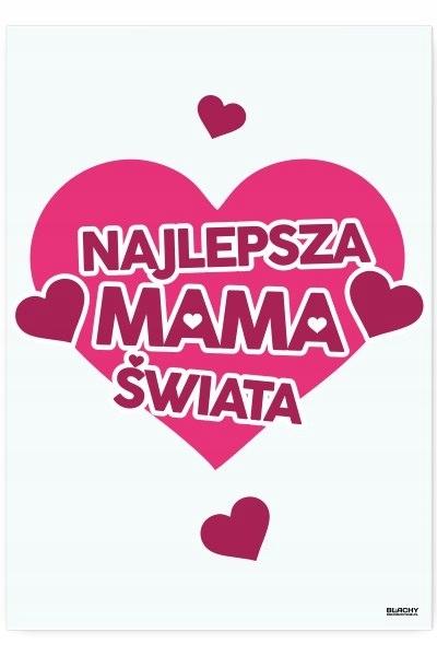 Blacha dekoracyjna / ozdobna Najlepsza Mama Świata