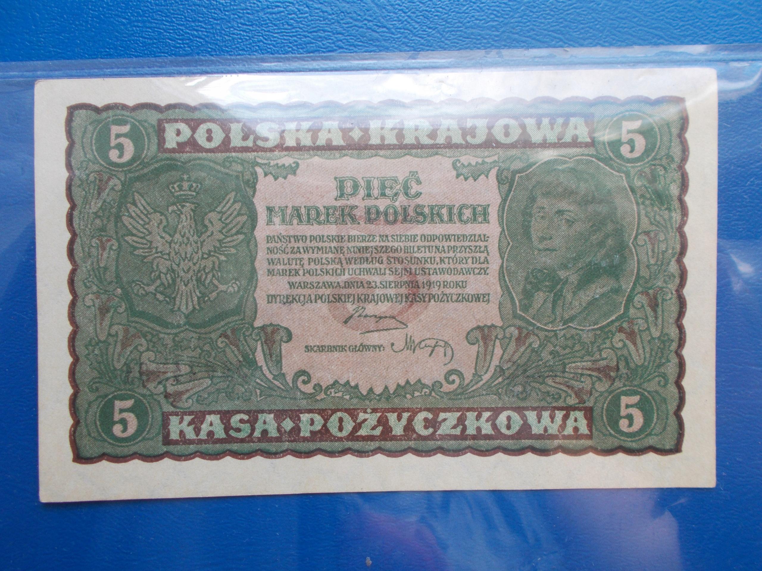 5 MAREK POLSKICH-1919-II Serja DO-ŁADNY