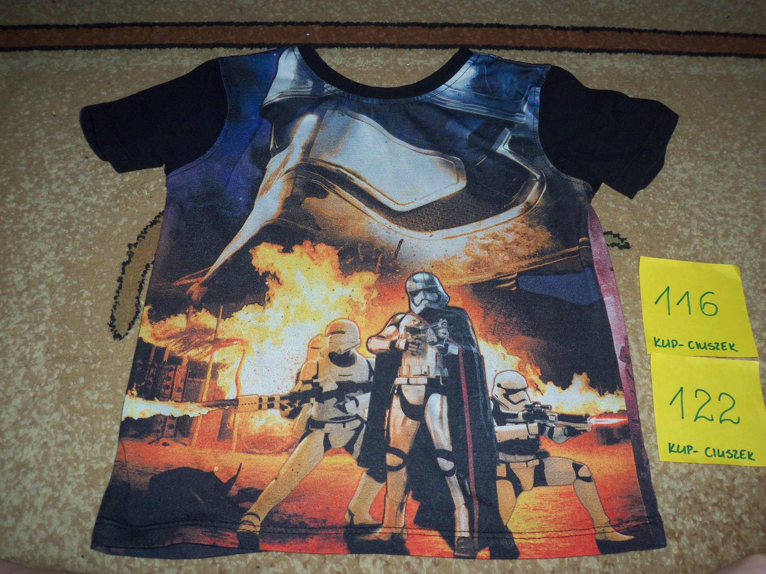 T-shirt chłopięcy rozmiar 116/122