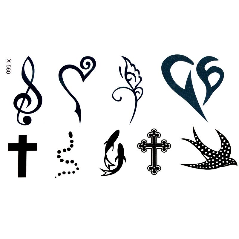 Tattoo Tatuaż Tymczasowy Zmywalny Jaskółka Krzyż