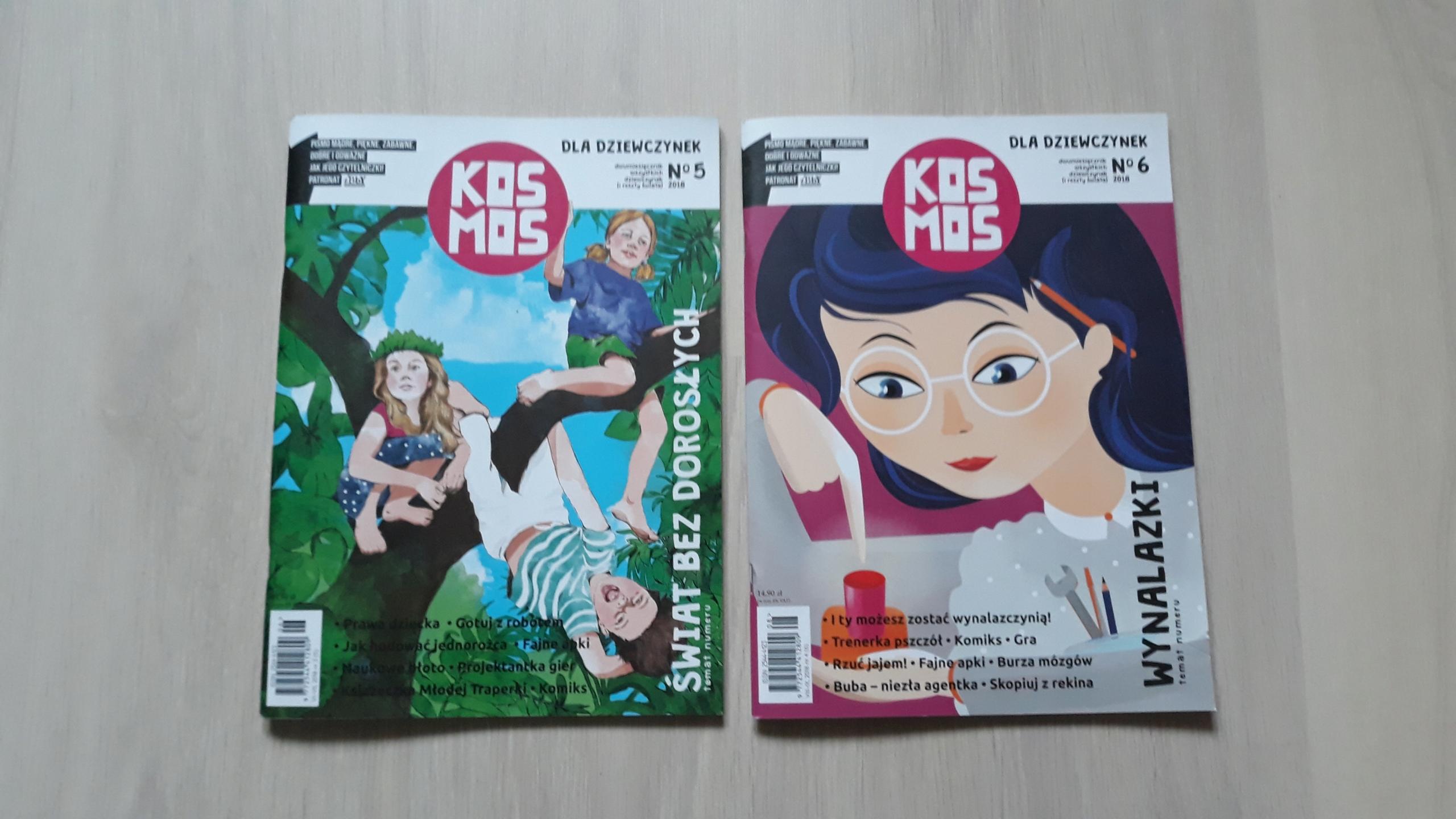 KOSMOS czasopismo dla dziewczynek nr 5 i 6, 2018