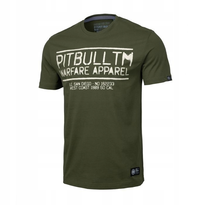Koszulka Pit Bull Warfare'19 - Oliwkowa S