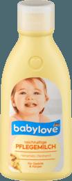 BABYLOVE intensywne mleczko -oczar+olej migdałowy