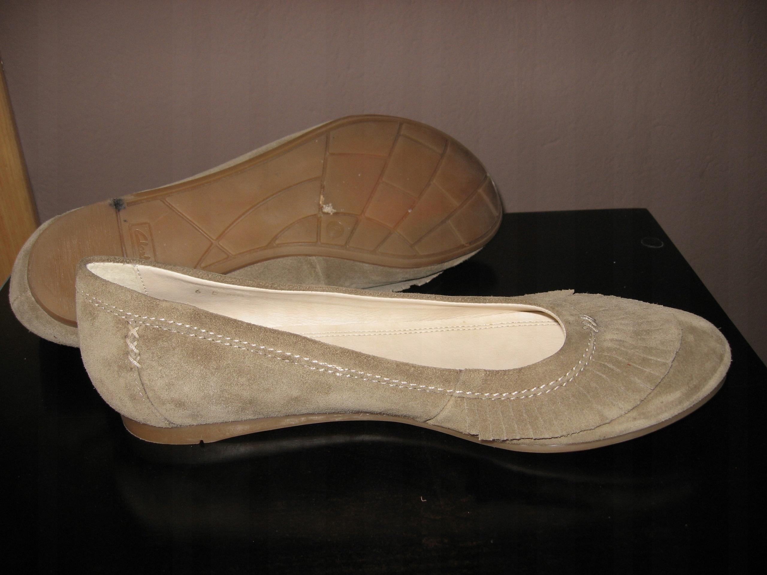 1dbc7b183ec44a CLARKS Skórzane buty baleriny damskie jak nowe 39 - 7556937851 ...