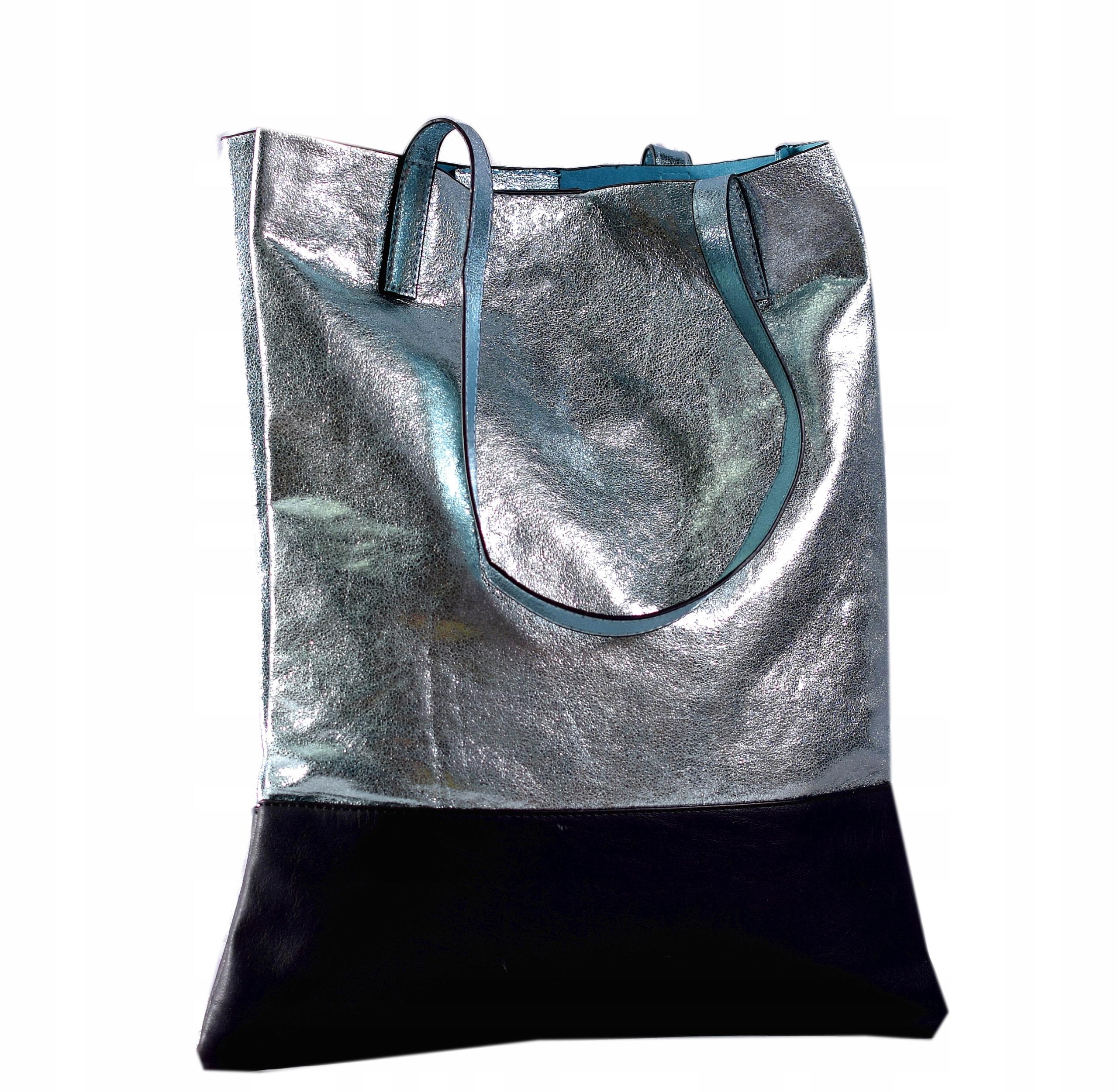 0dc14e2ecfc46 Metaliczna Torba shopper Sagitta Dwukolorowa -50% - 7247098687 ...