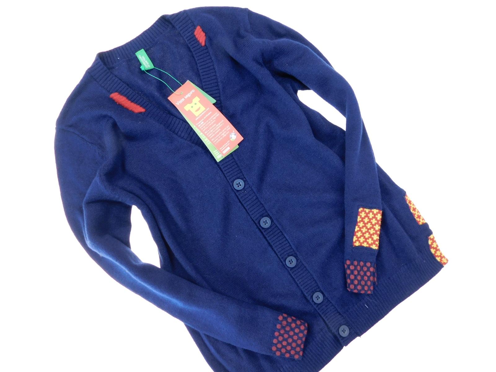 benetton nowy sweterek zapinany _ 110