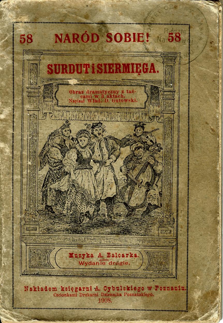 Gutowski- Surdut i siermięga obraz w 3 aktach 1908
