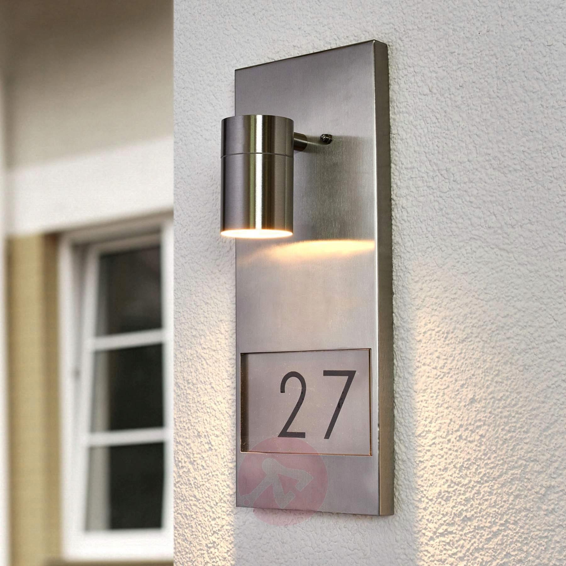 Kinkiet Oświetlenie Nr Domu Modena 7655 Stal Szla