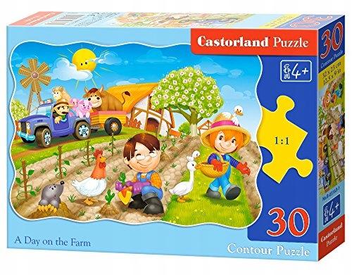 Castorland B03563 Midi A Day on the Farm Jigsaw Pu