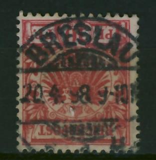 Breslau 1898 r - stempel na zn. niemieckim