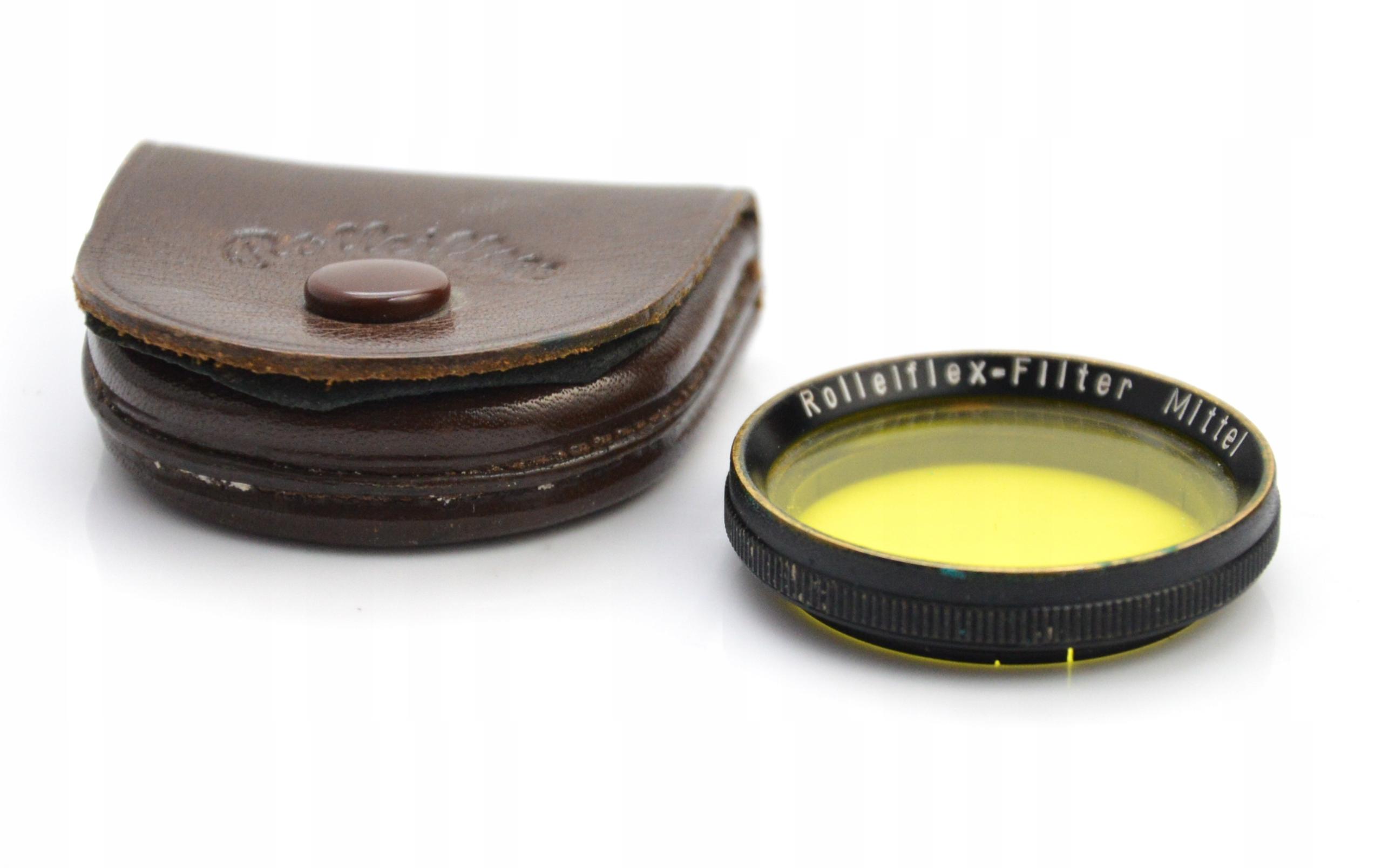 Filtr żółty do aparatu Rolleiflex