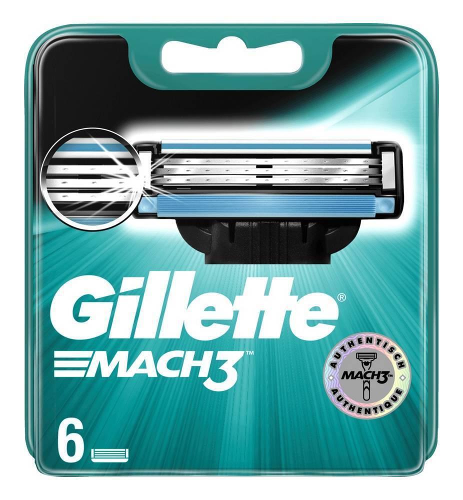 6 szt. GILLETTE MACH 3 - wymienne wkłady
