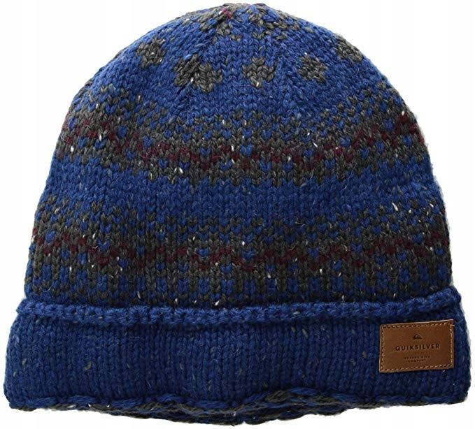 QUIKSILVER Trójkolorowa wełniana czapka (OS)