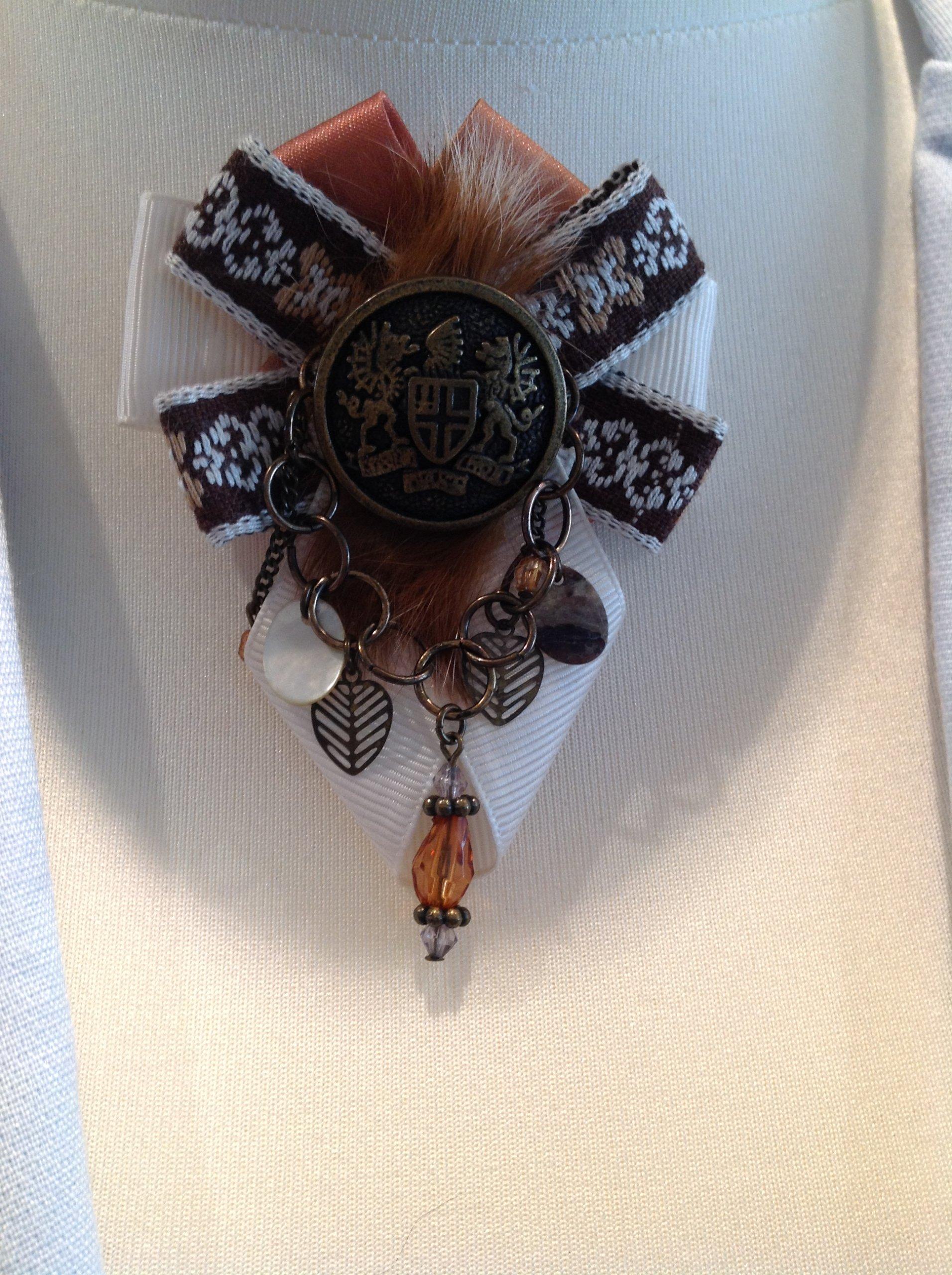 1230d34f946ef6 Broszka elegancka do koszuli bluzki j. Coco Chanel - 7318508304 ...