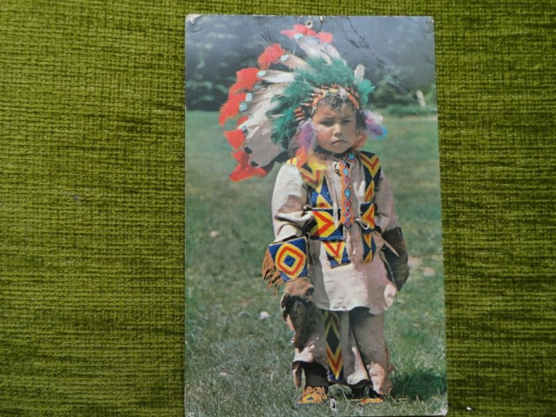 Pocztówka zapisana - z rezerwatu indian Canada