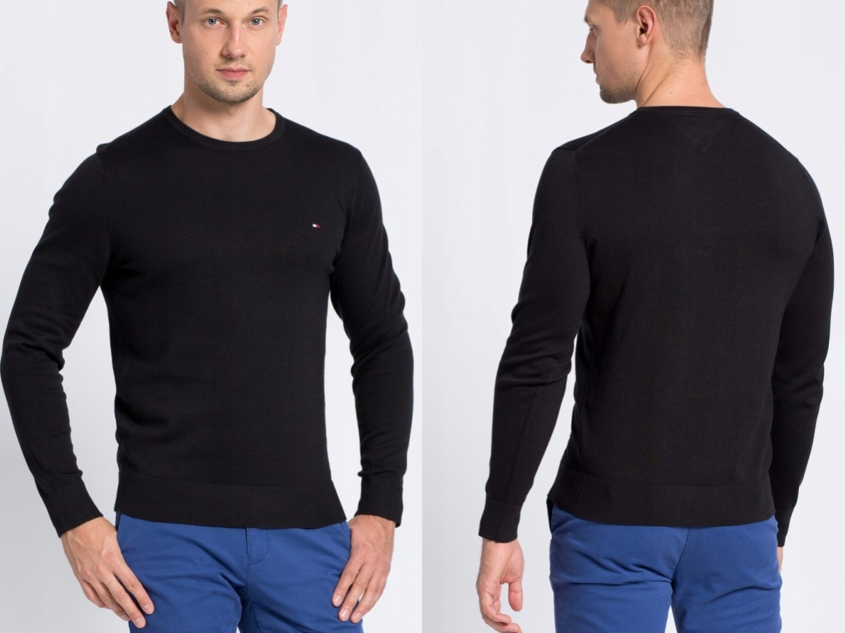 Tommy Hilfiger - Klasyczny Sweter z Logo XL
