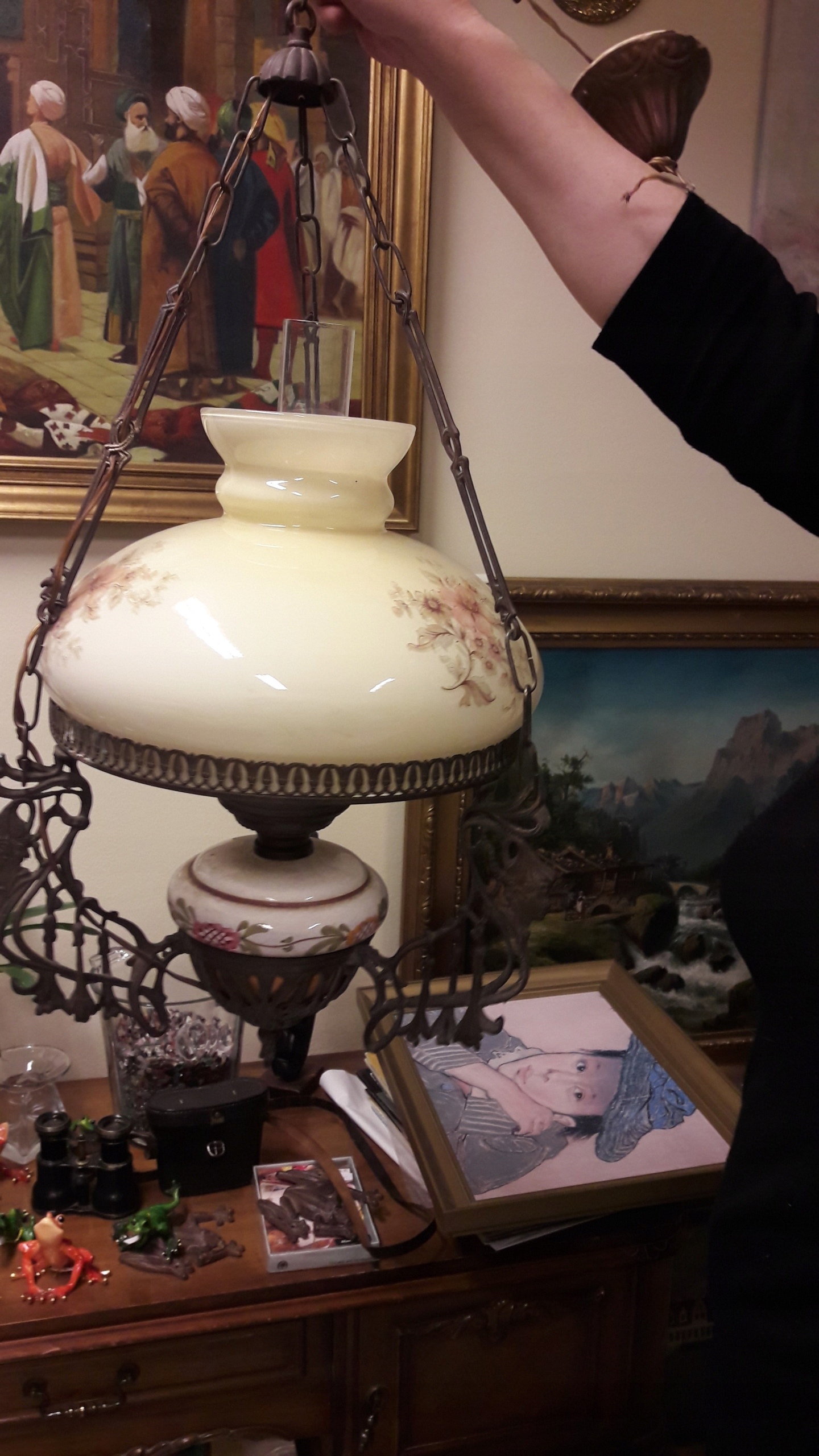 Lampa stylizowana żyrandol