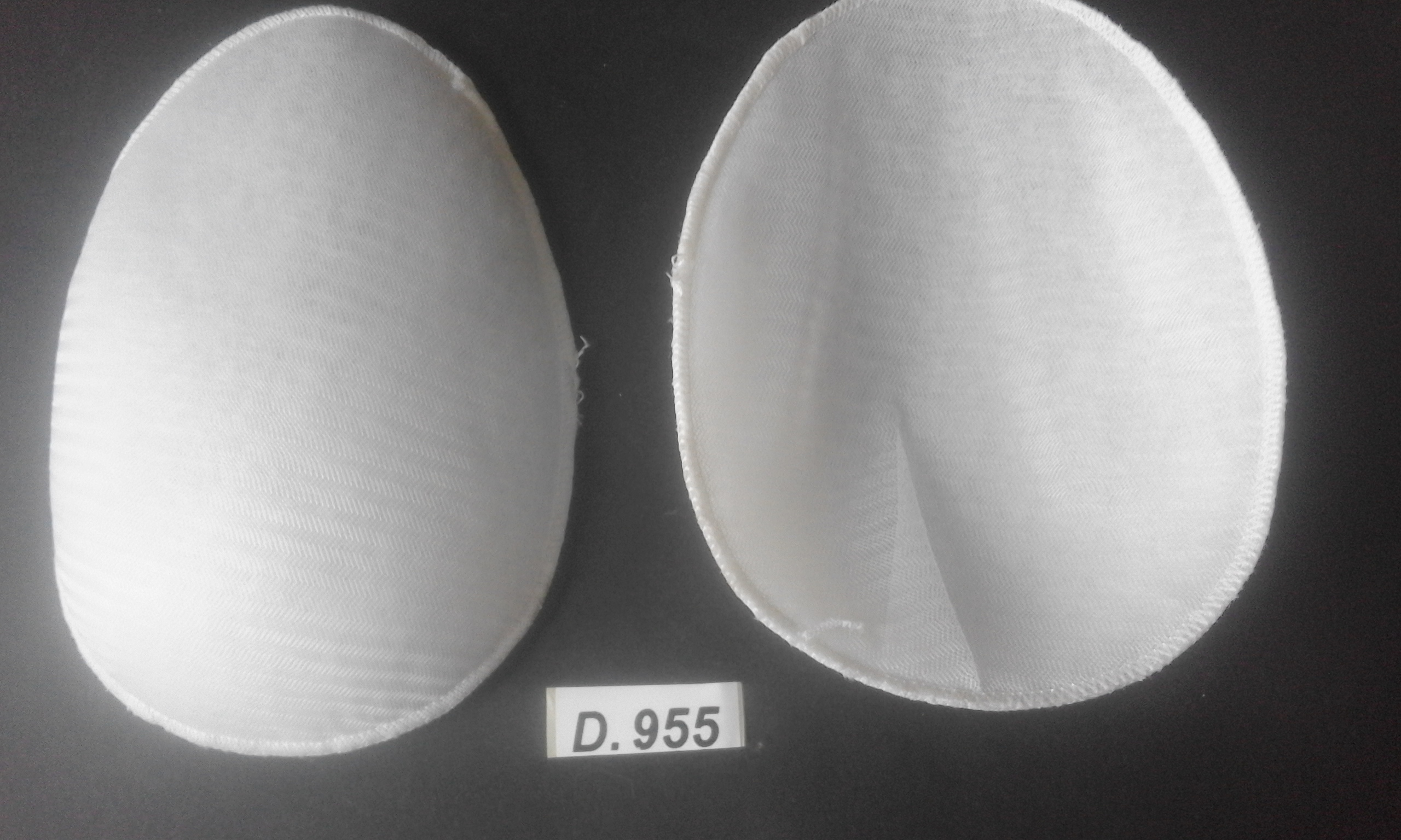 Poduszki do bluzek 10x16cm k.biały 10parD.955