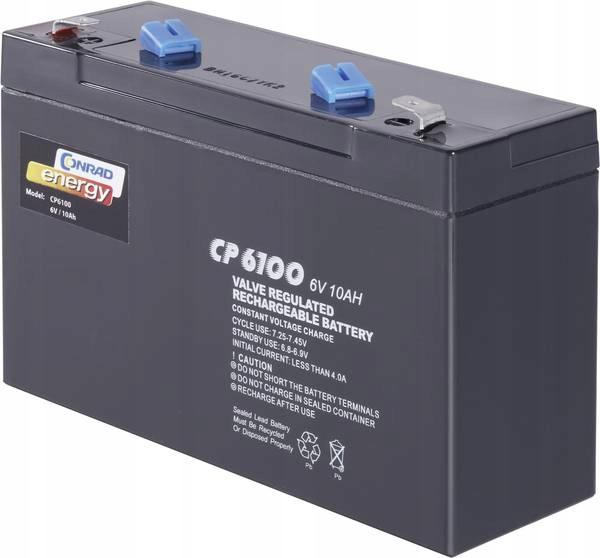 Akumulator żelowy Conrad energy CE6V/10Ah, 6 V