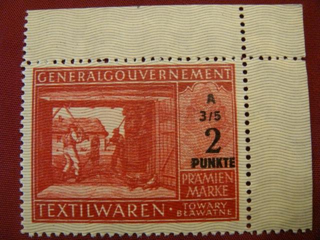 kartka zaopatrzen.- GENERALGOUVERNEMENT - okupacja
