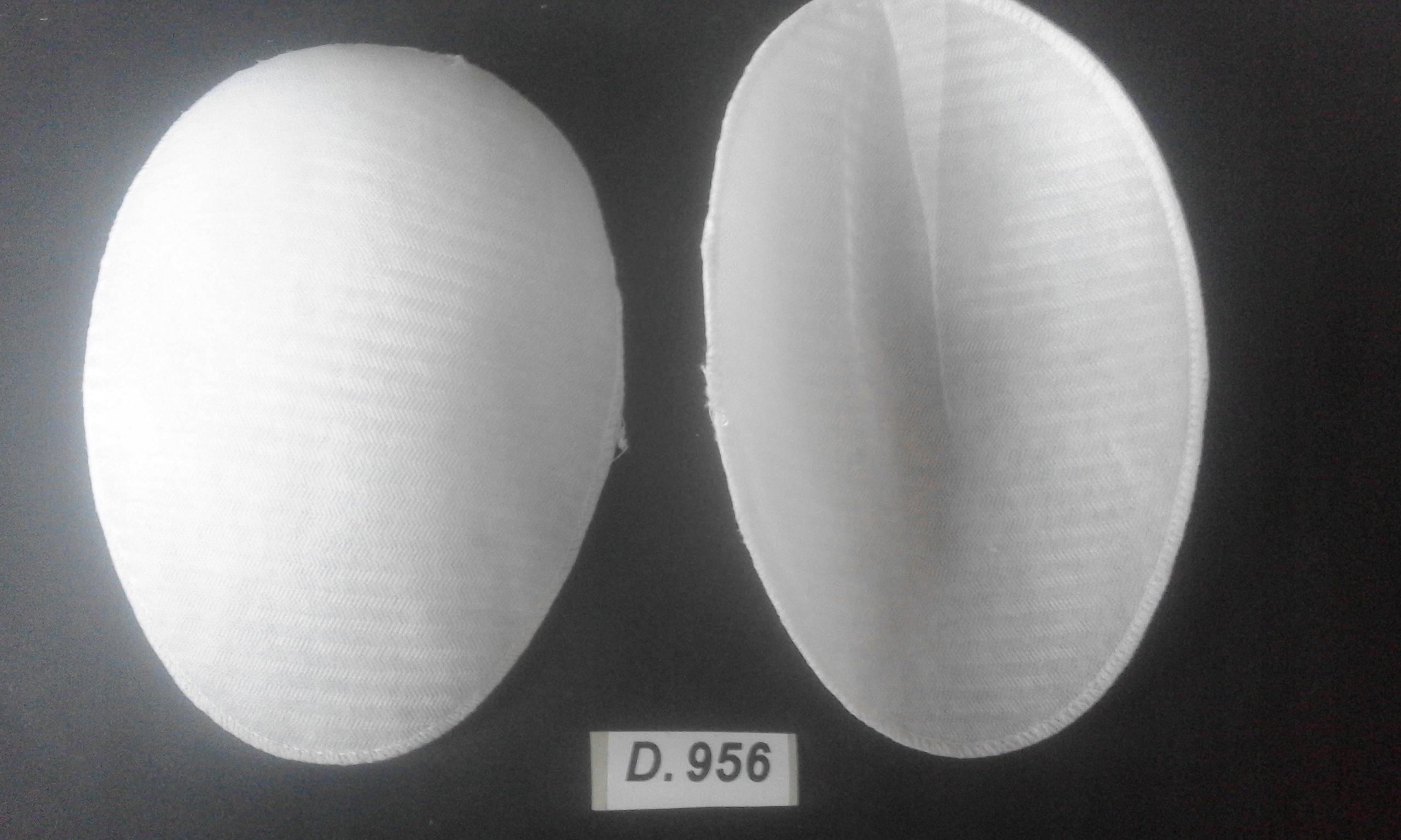 Poduszki do bluzek 9x15cm k.biały 10parD.956