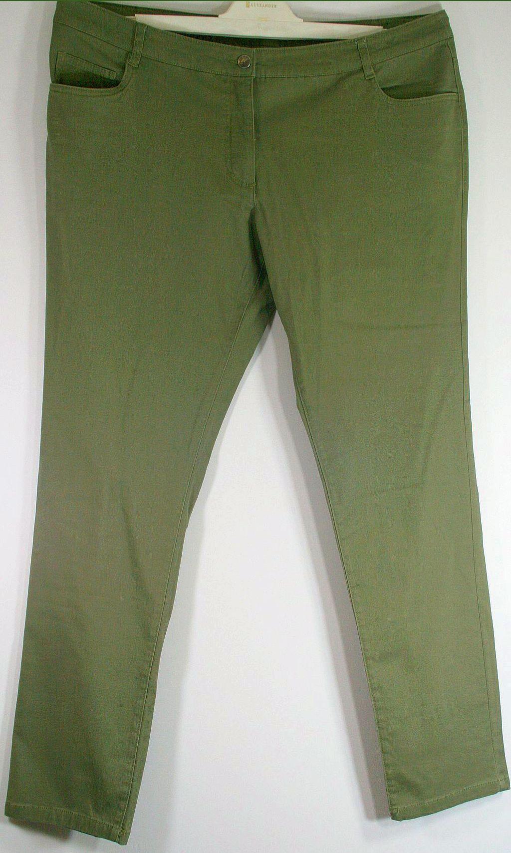 Spodnie khaki na guziki stretch Bawełna R 44